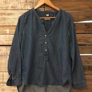 Ann Taylor - LOFT - jean shirt button up